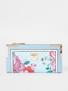 river-island-floral-monogram-metal-corner-purse-blue