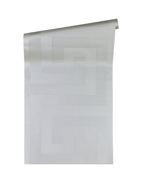 versace-greek-key-motif-silver-wallpaper