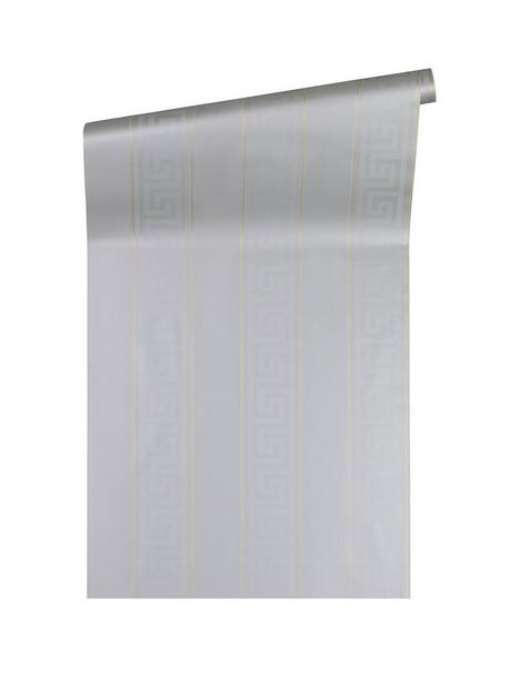 versace-greek-key-stripe-silver-wallpaper