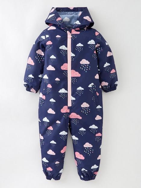 mini-v-by-very-girls-fully-waterproof-cloud-print-puddlesuit-ndash-navy