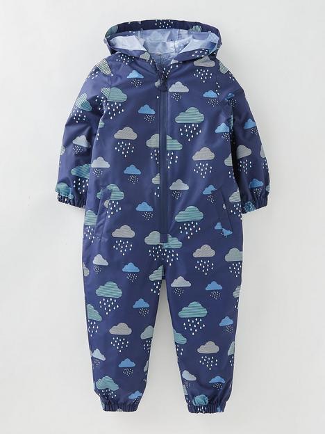 mini-v-by-very-boys-fully-waterproof-cloud-print-puddlesuit-ndash-navy