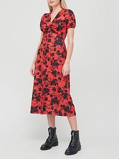 river-island-twist-front-floral-midi-dress-red