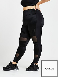 ri-plus-active-mesh-panelled-legging-black