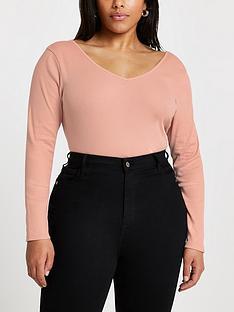 ri-plus-ri-plus-v-front-v-back-jersey-top-light-pink
