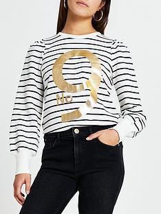 ri-petite-stripe-no-9-sweater-white