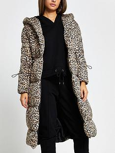 river-island-leopard-longline-shawl-padded-jacket