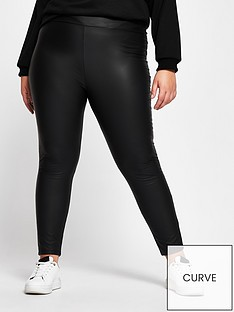 ri-plus-high-waist-matte-coated-legging-black