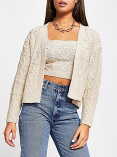 river-island-cable-knit-cardi-and-top-set-blue