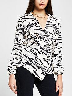 river-island-printed-twist-front-shirt-whiteprint