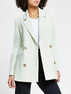 river-island-double-breasted-blazer-light-green