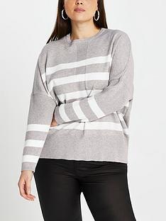 ri-plus-ri-plus-hi-low-hem-stripe-knitted-jumper-light-grey