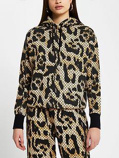river-island-animal-print-hoodie-brown