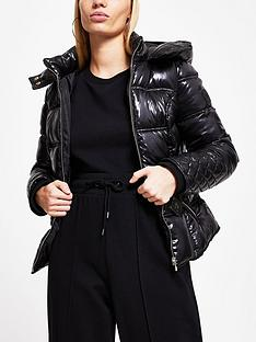 river-island-high-shine-clean-padded-jacket-black