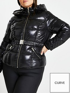 ri-plus-high-shine-clean-padded-jacket-black