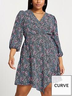 ri-plus-floral-wrap-dress-print