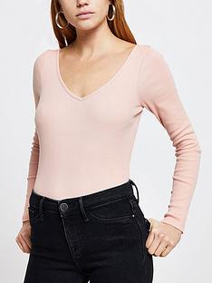 river-island-v-front-v-back-jersey-top-light-pink