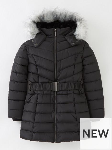 v-by-very-girls-faux-fur-hooded-half-fur-linednbspcoat--nbspblack