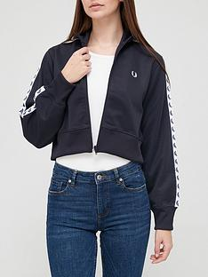 fred-perry-nbspcrop-taped-track-jacket-navynbsp