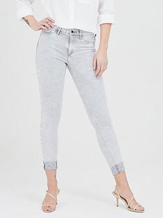 river-island-monogram-turn-up-mid-rise-molly-jegging-grey