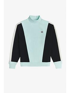 fred-perry-colour-block-sweat-top-blue