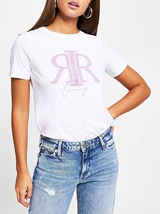 river-island-embossed-lounge-t-shirt-white
