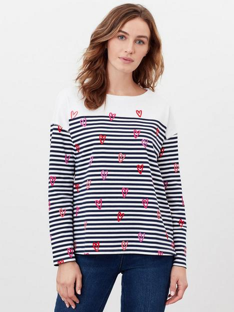 joules-dropped-shoulder-jersey-top-navy-stripe