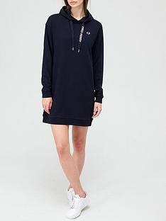 fred-perry-hooded-sweat-dress-navy