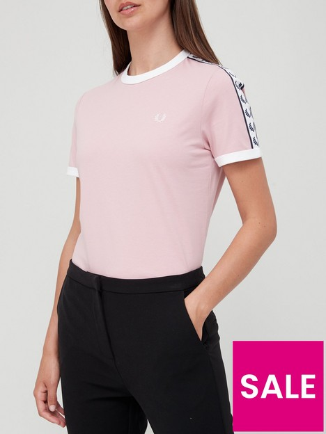 fred-perry-taped-ringer-t-shirt-pink