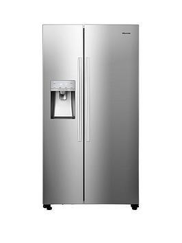 hisense-rs694n4icf-91cm-wide-total-no-frost-american-style-fridge-freezer-stainless-steel-look