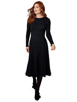 joe-browns-sparkle-knitted-dress-navy