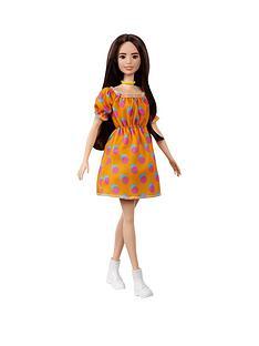 barbie-fashionistas-doll-polka-dot-off-the-shoulder-dress