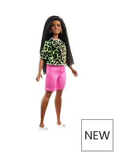 barbie-fashionistas-doll-neon-leopard-shirt-andnbsppink-bike-shorts