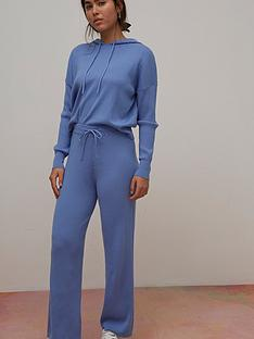 nobodys-child-ribbed-wide-leg-trousers-blue