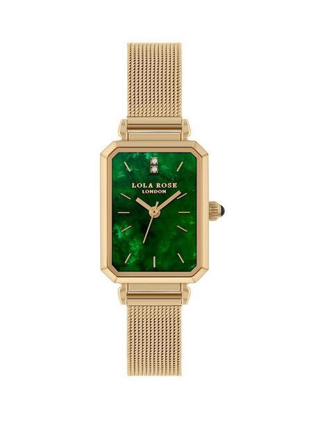 lola-rose-lola-rose-emerald-diamond-tank-dial-gold-stainless-steel-mesh-strap-ladies-watch