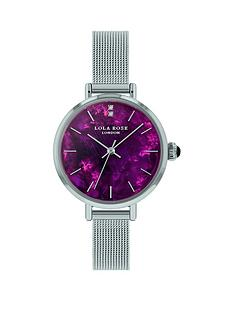 lola-rose-lola-rose-amethyst-diamond-dial-stainless-steel-mesh-strap-ladies-watch