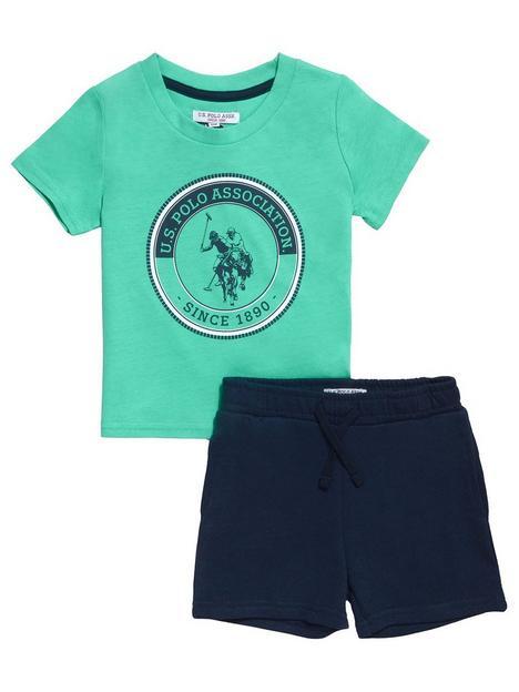 us-polo-assn-toddler-boys-graphic-t-shirt-short-set-greennavy