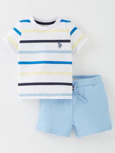 us-polo-assn-boys-contrast-stripe-t-shirt-amp-short-set-blue