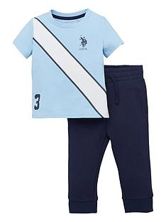us-polo-assn-toddler-boys-2-piecenbspspliced-player-short-sleeve-t-shirt-andnbspjoggers-set-bluenavy