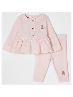 river-island-baby-girls-velour-peplum-2-piece-set--nbsppink