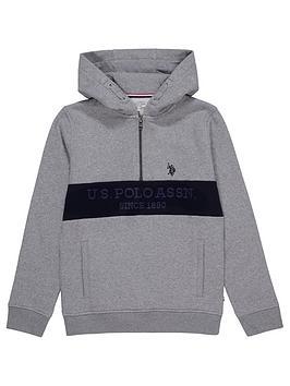 us-polo-assn-boys-block-14-zip-hoodie-grey-marl