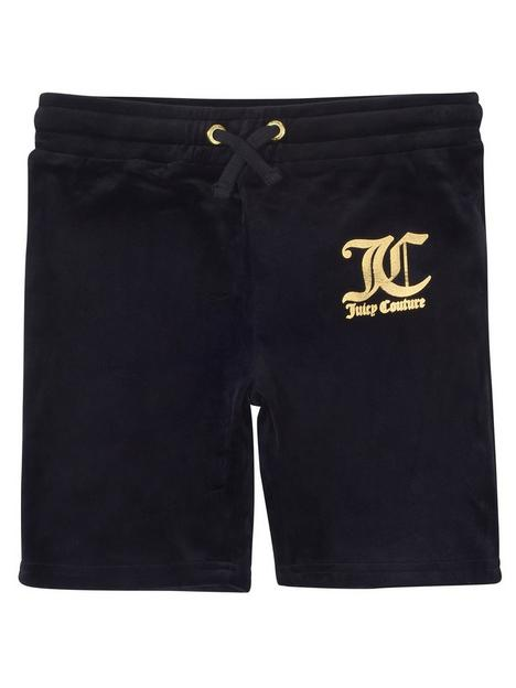 juicy-couture-girls-velour-cycle-shorts-black