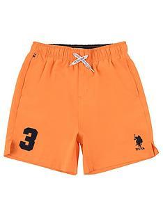 us-polo-assn-boys-player-3-swim-shorts-orange