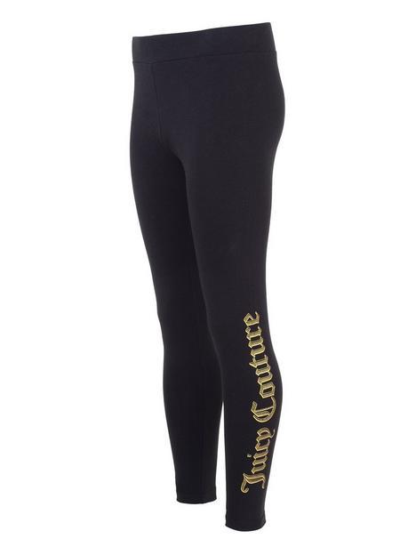 juicy-couture-girls-dot-print-legging-black