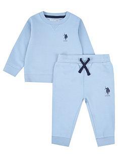 us-polo-assn-toddler-boys-player-crew-neck-sweat-set-blue