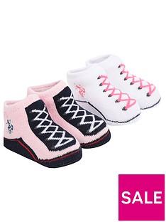 us-polo-assn-baby-girls-bootie-set-light-pink
