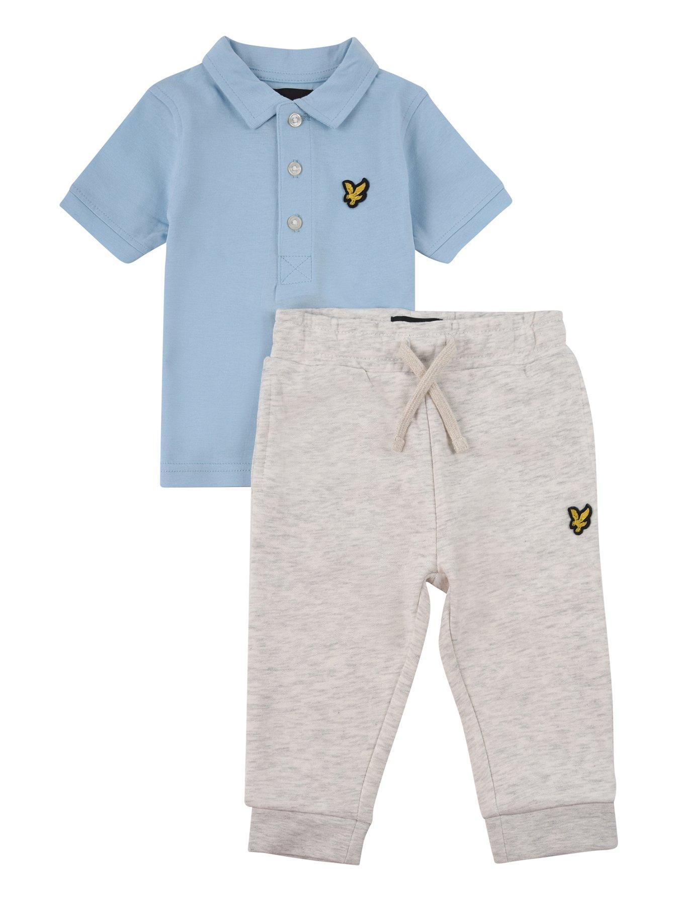 Lyle and Scott Boys Polo and Sweat Short Set