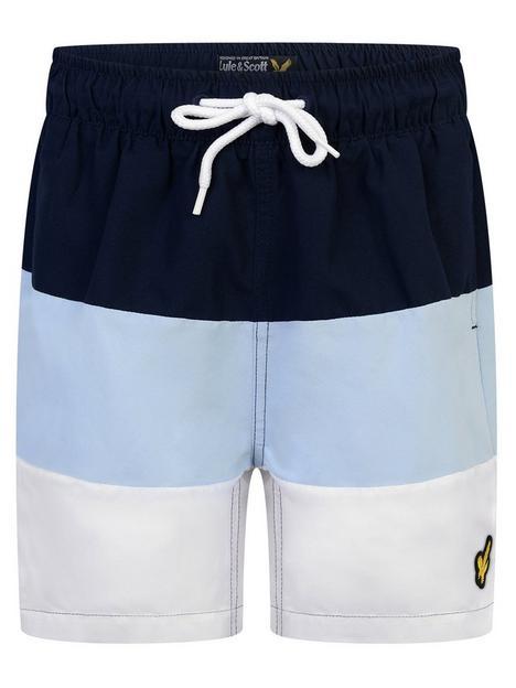 lyle-scott-boys-wide-multi-stripe-swim-short-navy