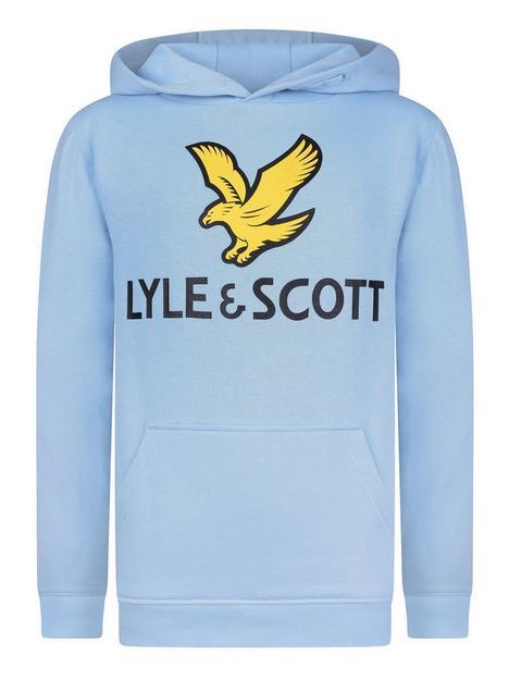 lyle-scott-boysnbspeagle-logo-overheadnbsphoodie-sky-blue