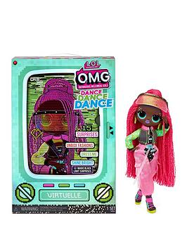 L.O.L Surprise! Omg Dance Dance Dance Virtuelle Fashion Doll With 15 Surprises Including Magic Blacklight, Shoes, Hair Brush, Doll Stand And Tv Package