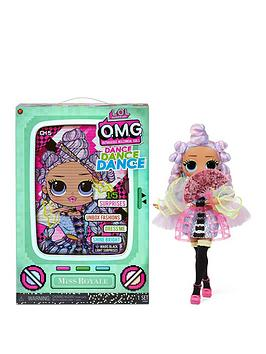 L.O.L Surprise! Omg Dance Dance Dance Miss Royale Fashion Doll With 15 Surprises Including Magic Blacklight, Shoes, Hair Brush, Doll Stand And Tv Package
